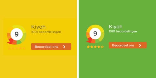 Transparante Widget voorbeeld Kiyoh