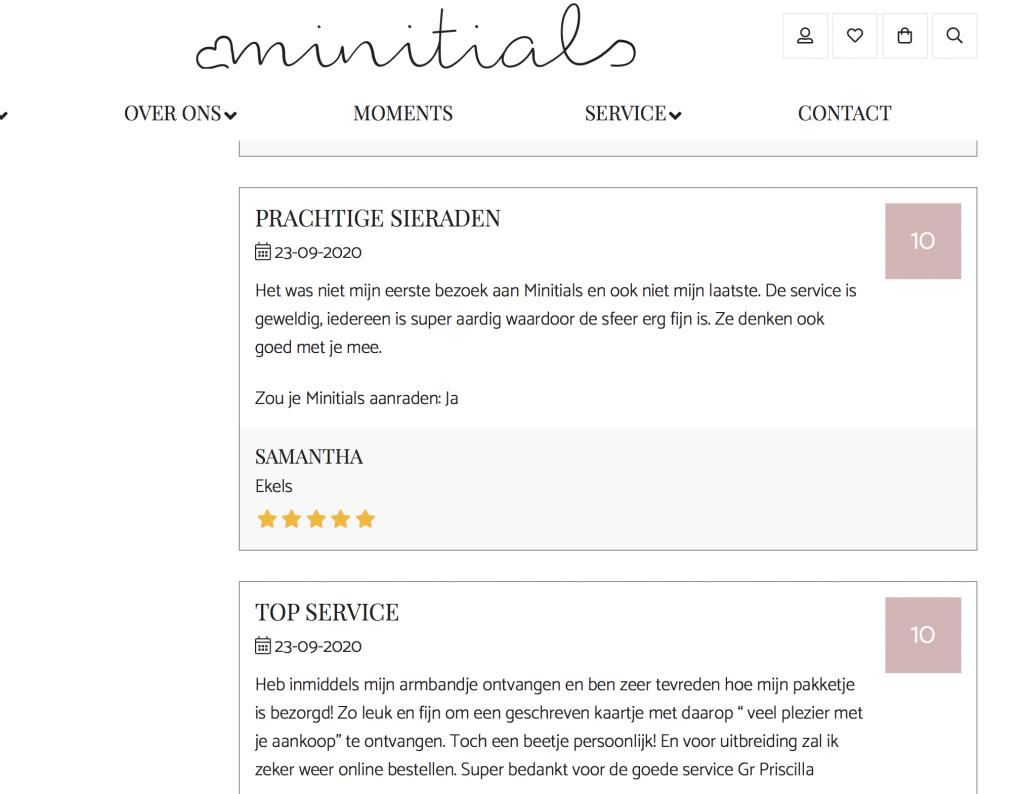 Minitials reviews